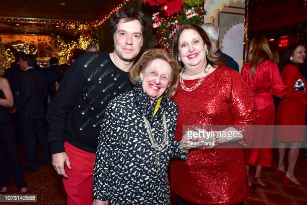 Rufus Wainwright Sylvia Mazzola and Alison Mazzola attend George Farias Anne Jay McInerney Host A Holiday Party at The Doubles Club on December 13...