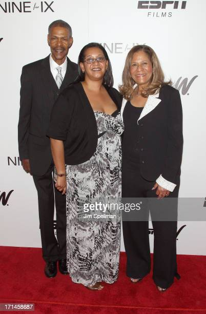 Rufus Williams Keonte Williams and C Vivian Stringer attend 'Venus Vs' and 'Coach' New York Special Screening at Paley Center For Media on June 24...
