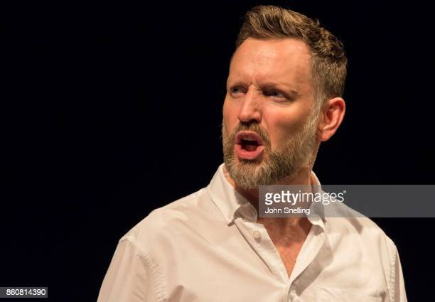 Rufus Wright as Dermont on stage during a performance of 'The End Of Hope' photocall at Soho Theatre on October 12 2017 in London England