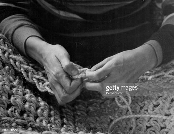 Rug Is Woven With A Stitch Similar To Single Crochet Method is simple to learn especially if you know crochet Credit Denver Post