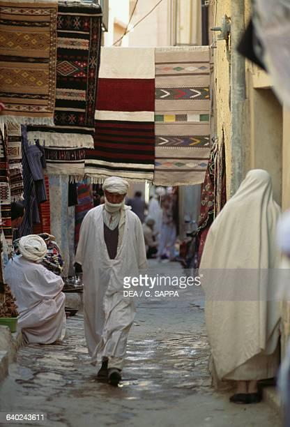 Rug marketplace M'zab Valley Ghardaia Algeria