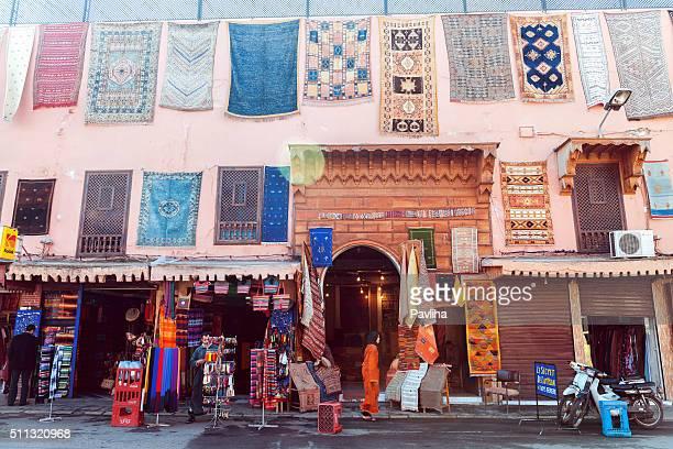 Teppich Straße einkaufen, Medina, Marrakesch, Marokko, Noerth Afrika