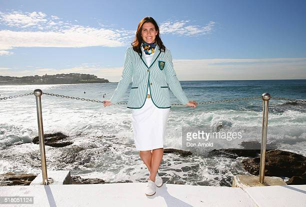 Rugby 7's player Charlotte Caslick poses during Sportscraft's 2016 Australian Olympic Team Opening Ceremony uniform launch on March 30 2016 in Sydney...