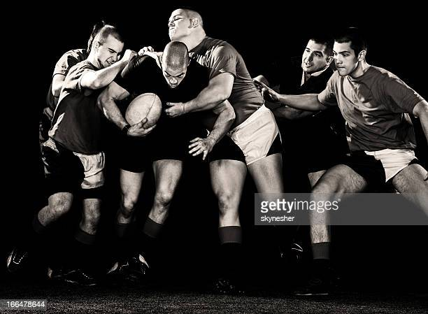 rugby action. - rugby team stock pictures, royalty-free photos & images