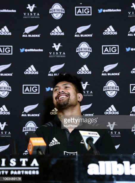 Rugby All Blacks press conference Vista Norther Tour Ardie Savea at Heaven Club in Rome Italy on November 19 2018