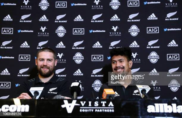 Rugby All Blacks press conference Vista Norther Tour Dane Coles and Ardie Savea at Heaven Club in Rome Italy on November 19 2018