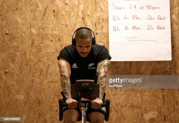 Rugby All Blacks training at gym Vista Norther Tour Aaron Smith at Heaven Club in Rome Italy on November 19 2018