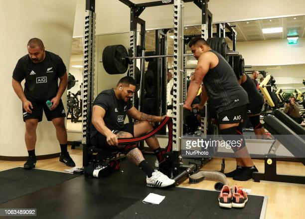 Rugby All Blacks training at gym Vista Norther Tour Ofa Tuungafasi at Heaven Club in Rome Italy on November 19 2018