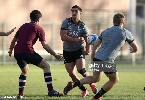 Rugby All Blacks training Vista Norther Tour Anton LienertBrown at Giulio Onesti Sport Center in Rome Italy on November 22 2018
