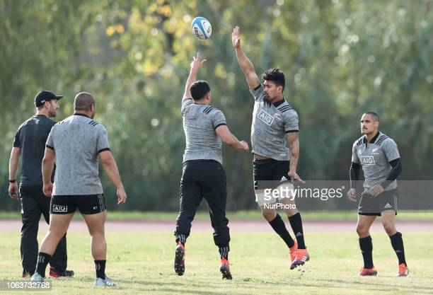 Rugby All Blacks training Vista Norther Tour Ardie Savea at University Sport Center in Rome Italy on November 20 2018