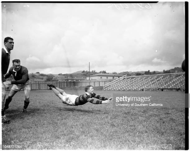 Rugby Australian Wallabies 24 March 1958 Des ConnorRon HarveyEd PurkinsJim Lenehan 'Sports' Caption slip reads 'Photographer Jensen Date Assignment...
