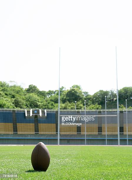 rugby ball on field - ラグビー場 ストックフォトと画像
