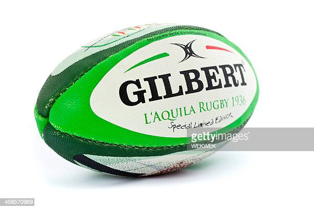 Rugby ball on white background