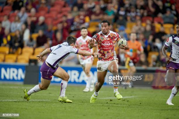 Brisbane Broncos Tautau Moga in action vs Melbourne Storm during Round 17 at Suncorp Stadium Brisbane Australia 6/30/2017 CREDIT Erick W Rasco