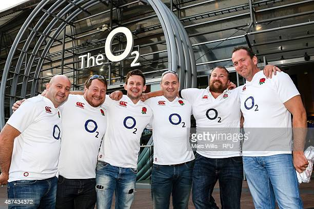 Rugby fans arrive at the Wear The Rose Live Official England Send off event hosted by O2 at The O2 Arena on September 9 2015 in London England The...