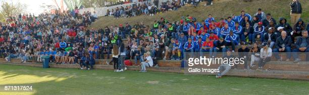 Rugby fans watching the Lions against Western Province during day 3 of the 2017 U/18 CocaCola Craven Week at St Stithians College on July 19 2017 in...