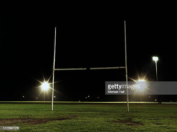 Rugby field at night