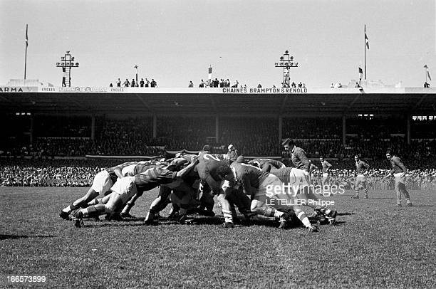 Rugby Finale Of France Championships Lourdes Dax 1956 le 3 juin finale du championnat de France de rugby à XV remporté par le FC Lourdes contre l'US...