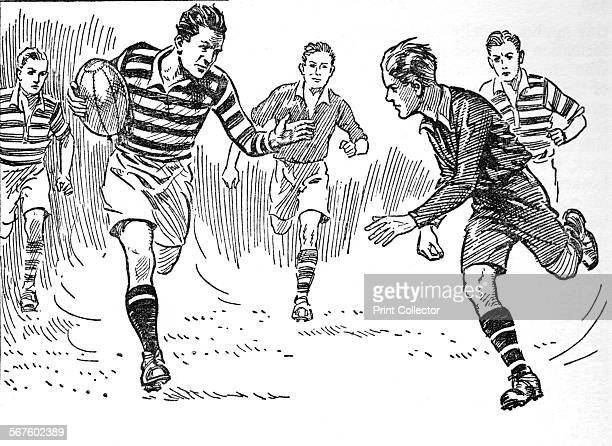 'Rugby Football' 1937 From The Children's Golden Treasure Book for 1937 edited by John R Crossland and J M Parrish [Odhams Press Ltd London 1937]