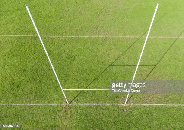 rugby goal - goal post stock photos and pictures