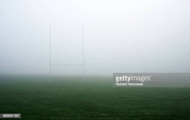 Rugby Goal Posts in Fog