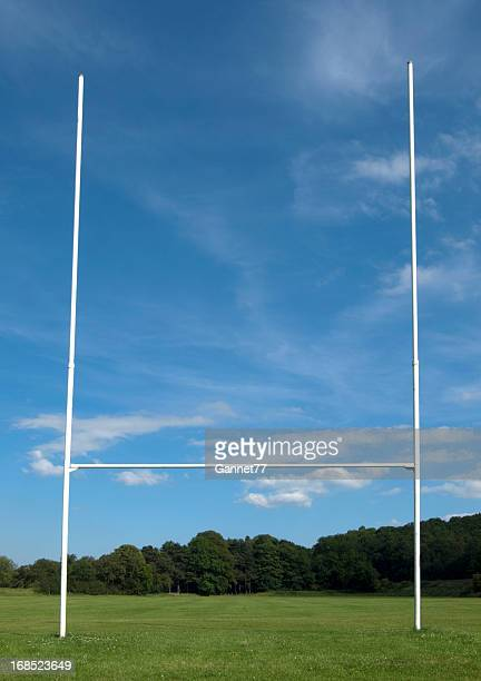 rugby goal posts - rugby field stock pictures, royalty-free photos & images