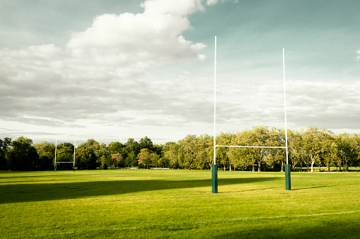 Rugby Goal Posts 925581906