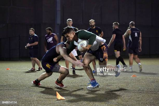 Gotham Knights RFC Michael Kengmana in action during practice session photo shoot at Randalls Island The team started in December 2001 as a...