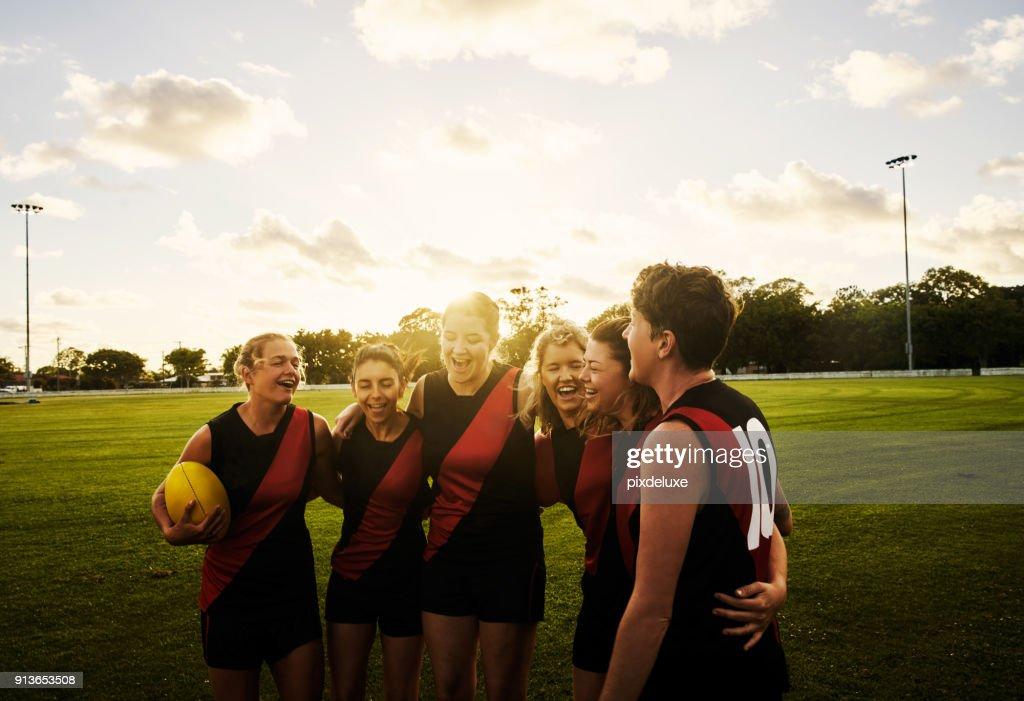 Rugby is a sisterhood : Stock Photo