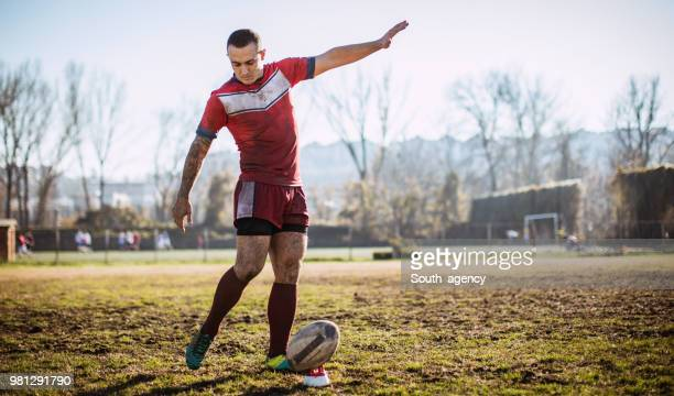 rugby kick - rugby league stock pictures, royalty-free photos & images