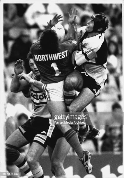 Rugby League at Sydney Football StadiumCronulla Vs South SydneyRod Maybon Kurt Wrigley Aaron Raper May 1 1993