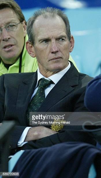 Rugby League Curtain Raiser at Telstra Stadium Homebush Sydney Kangaroos Invitational vs New Zealand Image shows Australia's Coach Wayne Bennett...