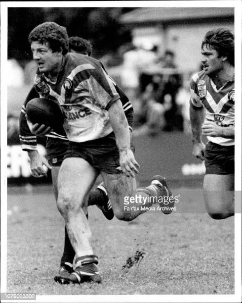 Rugby League. Manly Vs Canterbury - Phil Gould. April 08, 1984. .