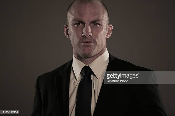 Rugby League player Darren Lockyer poses on April 18 2011 in Brisbane Australia Australian and Queensland representative player Lockyer has announced...