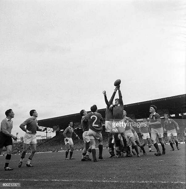 Rugby match between France and Ireland at the stage of Colombes within the framework of the Five Nations Tournament