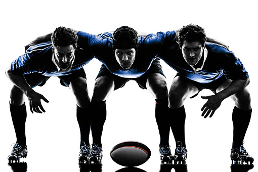 rugby men players silhouette 477753962
