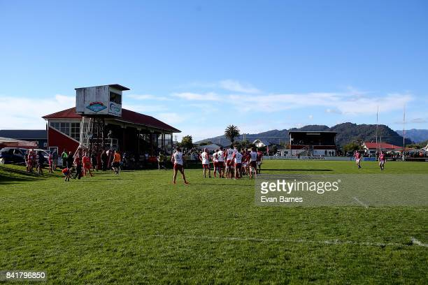 Rugby Park during round 2 Heartland Championship match between Buller and West Coast at Rugby Park on September 2 2017 in Greymouth New Zealand