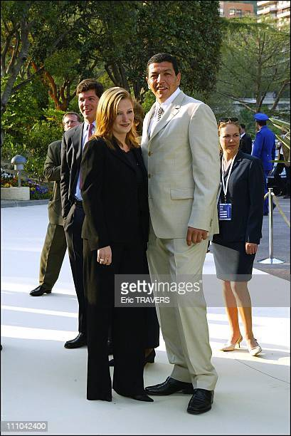 Rugby player Abdelatif Benazzi at Laureus awards in Monaco city Monaco on May 19 2003