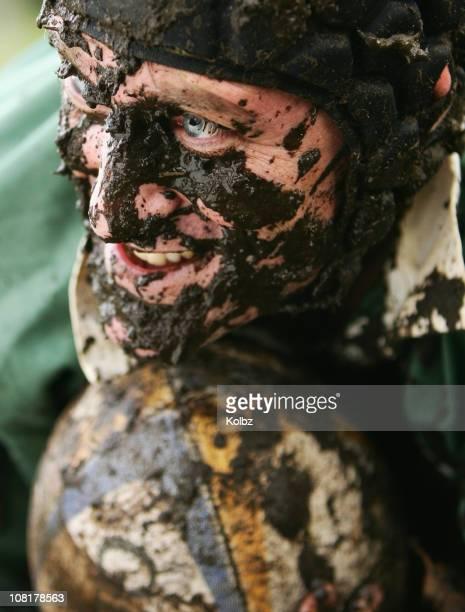 Rugby ricoperte da fango