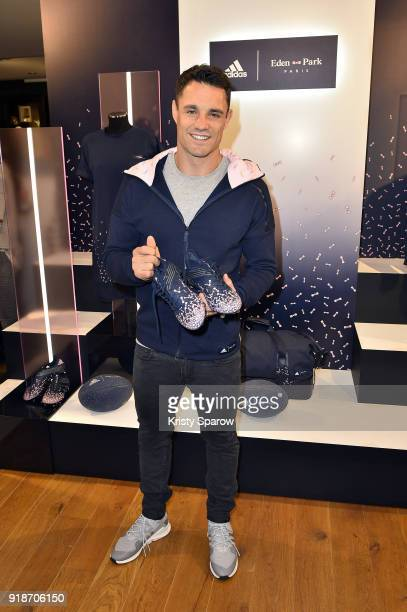 Rugby Player Dan Carter attends the Capsule Collection Adidas X Eden Park Launch Party at Boutique Eden Park on February 15 2018 in Paris France
