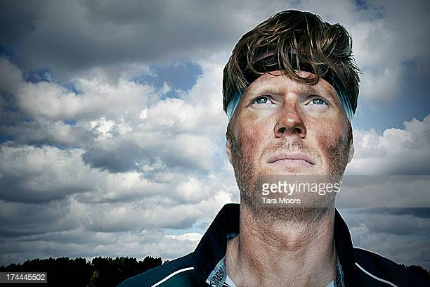 rugby player looking up to sky - rugby stock pictures, royalty-free photos & images