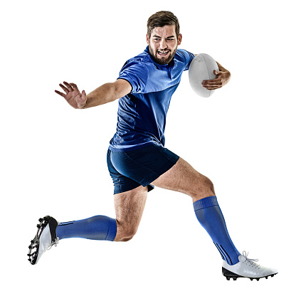 rugby player man isolated 596800442