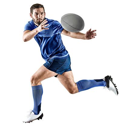 rugby player man isolated 664414004
