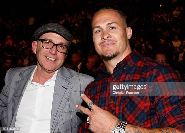 Rugby player Matt Cooper in attendance in during the UFC 194 event inside MGM Grand Garden Arena on December 12 2015 in Las Vegas Nevada
