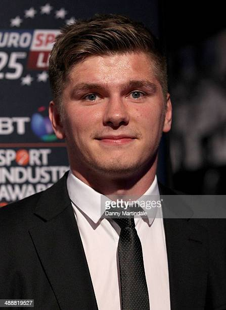 Rugby player Owen Farrell attends the BT Sport Industry Awards at Battersea Evolution on May 8 2014 in London England