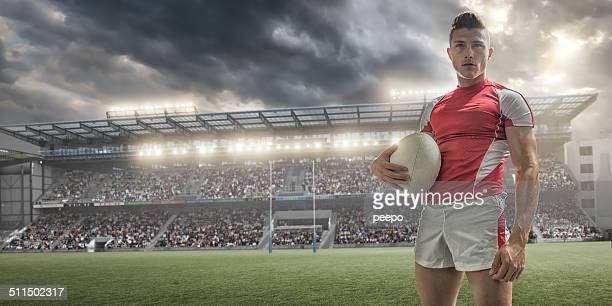 rugby player portrait - rugby stock pictures, royalty-free photos & images