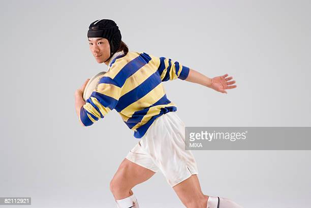 Rugby player running