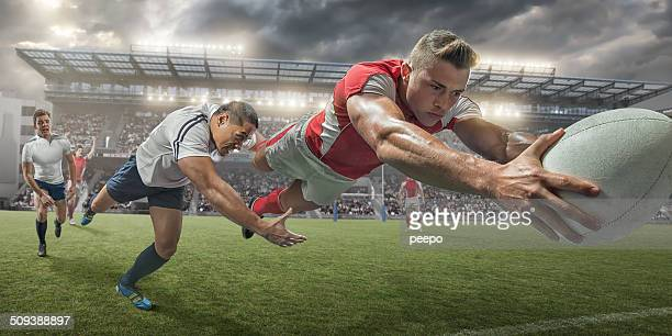 rugby player scoring - rugby union stock pictures, royalty-free photos & images