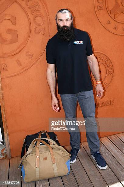 Rugby Player Sebastien Chabal attends the 2015 Roland Garros French Tennis Open - Day Twelve, on June 4, 2015 in Paris, France.