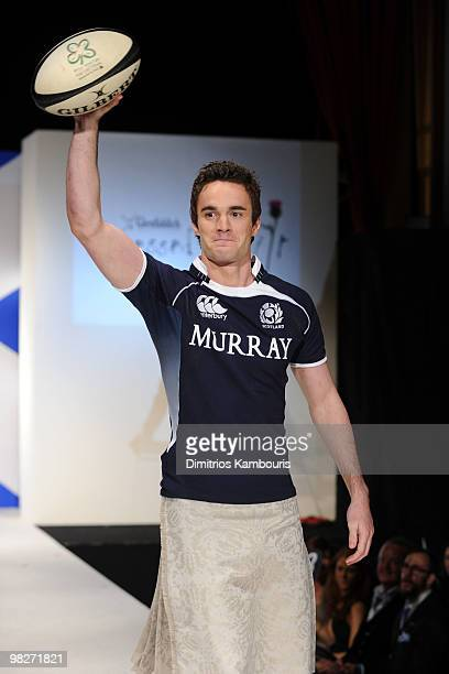 Rugby Player Thom Evans attends the 8th annual Dressed To Kilt Charity Fashion Show at M2 Ultra Lounge on April 5 2010 in New York City